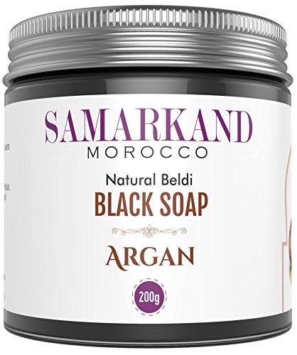 Schwarze Seife aus Marokko mit BIO Arganöl 100% Rein Natürlich Beldi für Hammam – Das Original Marokkanisch 200 g